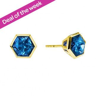 47e424dbc2e8 Birks Bee Chic Blue Topaz Stud Earrings 8