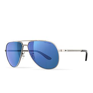 3e5f6de8debf Black Clover Just My Luck Aviator Sunglasses - Smoke lens with blue mirror  1