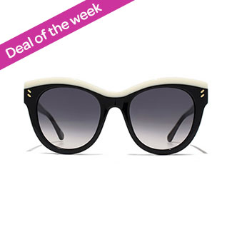 f242a8f2b98 Stella McCartney Cat-Eye Sunglasses - Black   White Colorblock 4