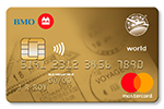 BMO<sup>®†</sup> AIR MILES<sup>®</sup> World Mastercard<sup>®*</sup>