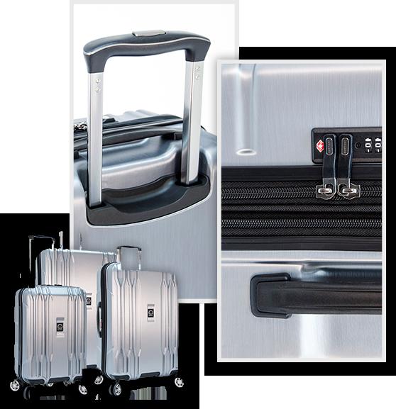Silver Hardside Luggage set