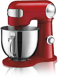 red Cuisinart mixer