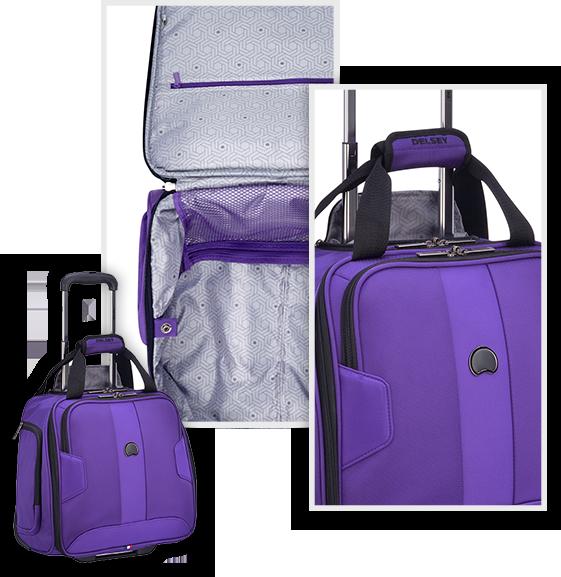 purple softside luggage set